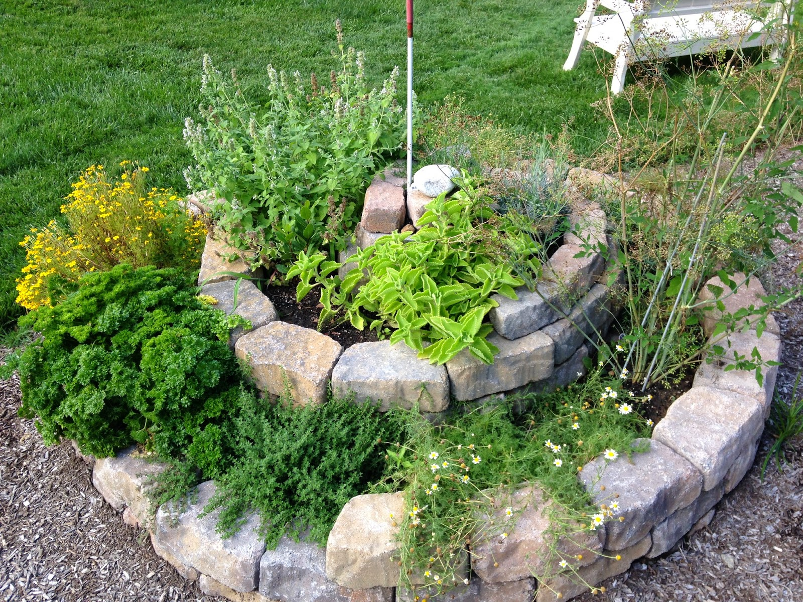 herb spirals philly permaculture. Black Bedroom Furniture Sets. Home Design Ideas